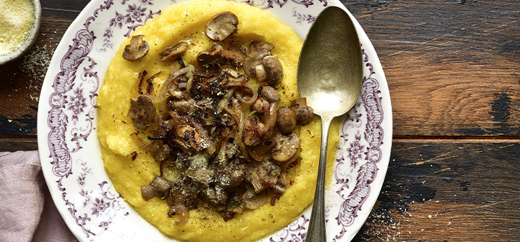Baked Polenta with Mushroom for A Tasty Everyday Lunch [Recipe]   ultimatemedicinalmushrooms.com
