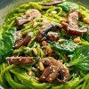 Easy Mushroom Pesto Spaghetti For A Cozy Dinner! [Recipe]   ultimatemedicinalmushrooms.com