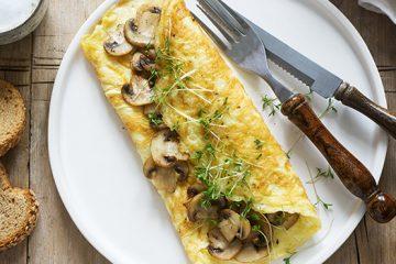 Mushroom Omelette Recipe | Ultimatemedicinalmushrooms.com