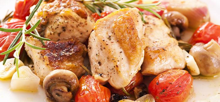 Mushroom Honey Roast Chicken
