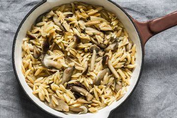 Need A Side Dish? Try This Orzo Pasta With Mushrooms [Recipe] | ultimatemedicinalmushrooms.com