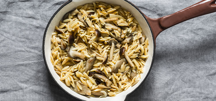 Need A Side Dish? Try This Orzo Pasta With Mushrooms [Recipe]   ultimatemedicinalmushrooms.com