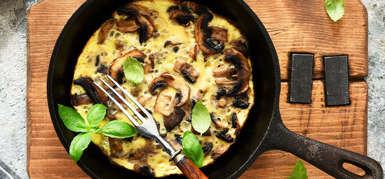 This Potato and Mushroom Frittata Is A Treat For Everyone! [Recipe] | ultimatemedicinalmushrooms.com