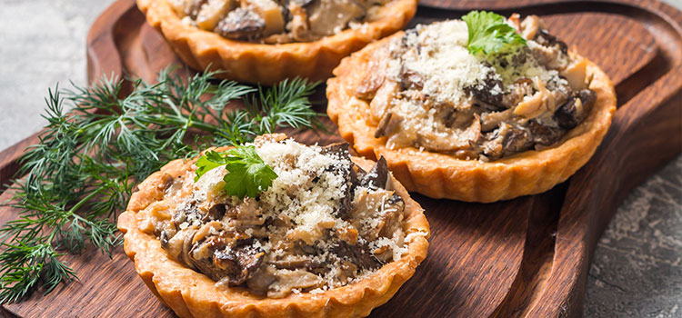 Need A Tasty Snack? Try These Sausage Tarts with Mushroom [Recipes] | ultimatemedicinalmushrooms.com