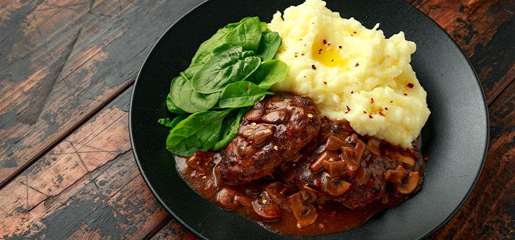 Steak With Mushroom Gravy