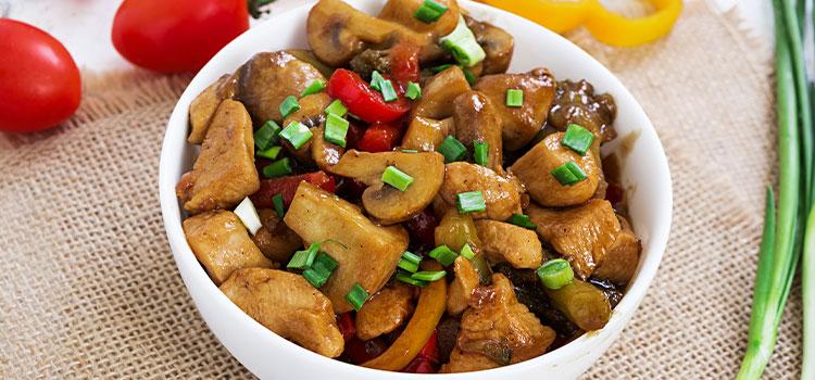 Thai Chicken Pan With Shiitake