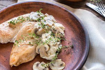 Tender Chicken Breast with Buttered Mushroom Sauce | ultimatemedicinalmushrooms.com