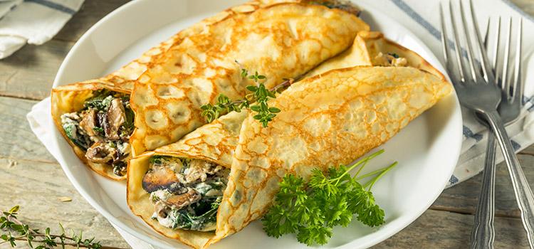 Mushroom Crepes Are The Ideal Vegetarian Meal Recipe   Ultimatemedicinalmushrooms.com