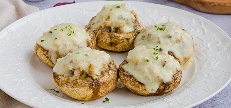 White Mushroom Delight with Crabmeat Filling   ultimatemedicinalmushrooms.com
