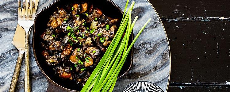 Pan-Fried Lion's Mane Mushrooms