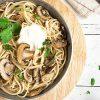 Aglio Olio Pasta with Mushroom Slices | ultimatemedicinal.com