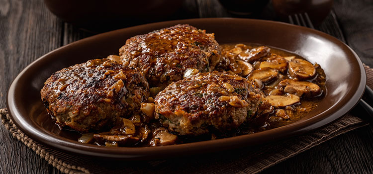 Creamy Burger Steak with Mushroom Gravy, Easy Recipe | ultimatemedicinalmushrooms.com