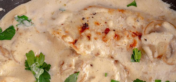 Fried Chicken with Shiitake Mushroom Sauce | ultimatemedicinalmushrooms.com