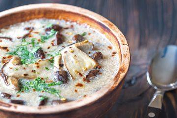 Easy Mushroom Soup Recipe   Ultimatemedicinalmushrooms.com