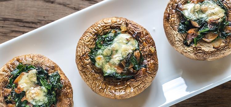 Tasty Mushroom Bites with Bacon and Cheese Filling | ultimatemedicinalmushrooms.com