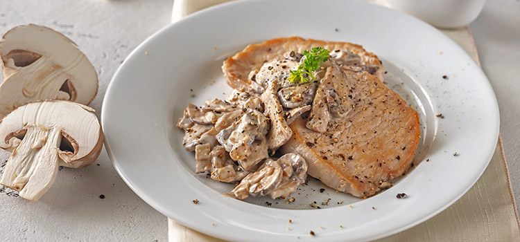 Are You Hungry? Try These Pork Chops with Mushroom Sauce | ultimatemedicinalmushrooms.com