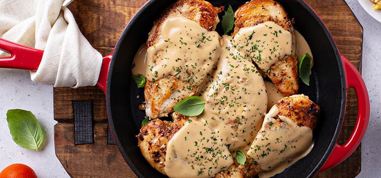 Buttered Chicken With Portobello Mushroom Gravy Recipe Umm
