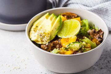 Healthy Shiitake and Quinoa Green Salad | ultimatemedicinalmushrooms.com