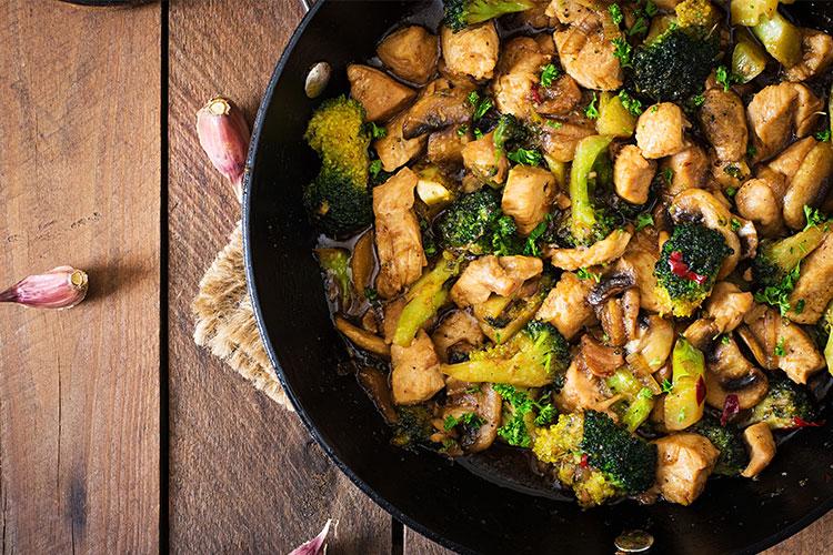 Stir-Fry Portobello Mushrooms and Vegetables