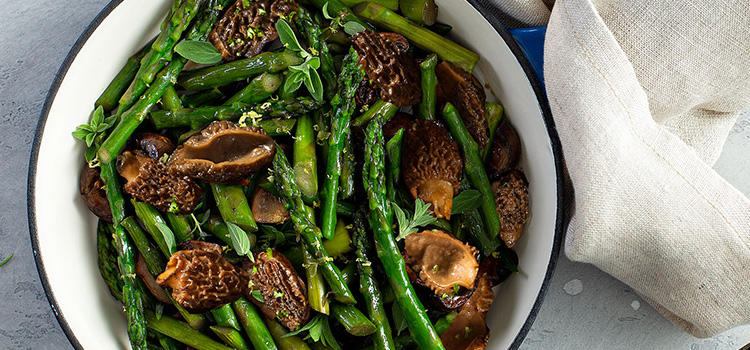 This Asparagus with Morels Dish Is All You Need Right Now [Recipe] | ultimatemedicinalmushrooms.com