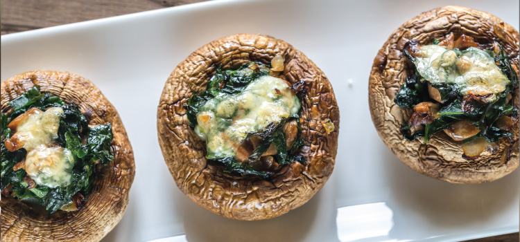 A Winter Dinner: Baked Stuffed Portobello Mushroom Recipe   ultimatemedicinalmushrooms.com