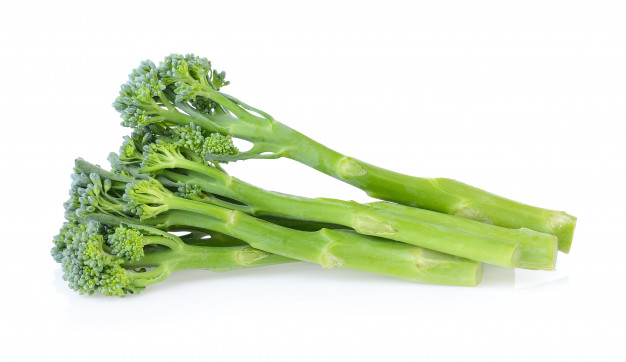 Isolated photo of a bunch of broccolini