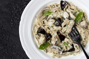 Duo Mushroom Linguine For The Vitamins You're Missing Out On Recipe | Ultimatemedicinalmushrooms