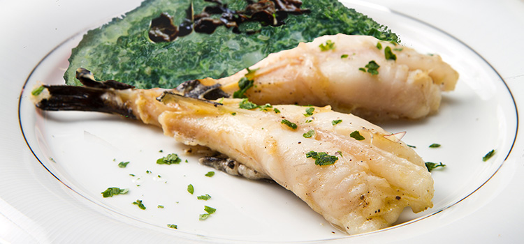A Healthy Dinner This Week: Monk Fish With Black Trumpet [Recipe]   ultimatemedicinalmushrooms.com